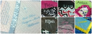 Monogrammed Blankets by The Minky Moon