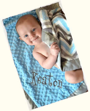The Minky Moon Custom Baby Blankets