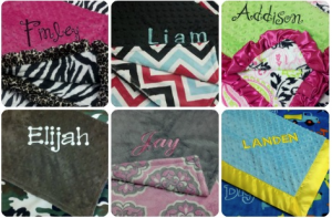 Personalized Baby Blankets Minky Moon